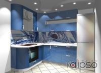 Кухня мечта о море - Кухня с фасадами из крашенного МДФ.
