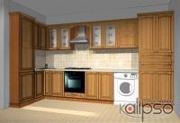 Кухонный гарнитур классический - Кухонный гарнитур классический с фасадами из массива ясеня