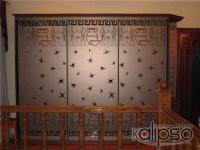 Шкаф-купе с пескоструйным рисунком -