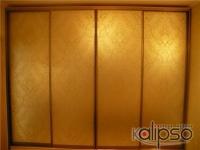 Шкаф-купе с пескоструйным орнаментом