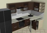 Угловая кухня с мини-баром