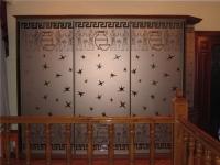 Шкаф-купе с пескоструйным рисунком