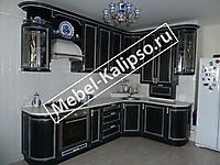 Кухня Наяда черная. Общий вид